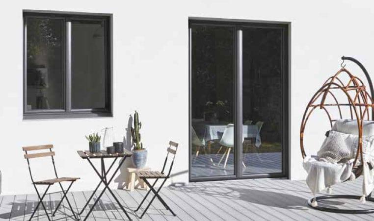 Porte-Fenêtre design galbé GREEN FERMETURES